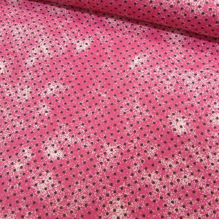 Tecido Tricoline Poá Manchado - Rosa - 100% Algodão - Largura 1,50m