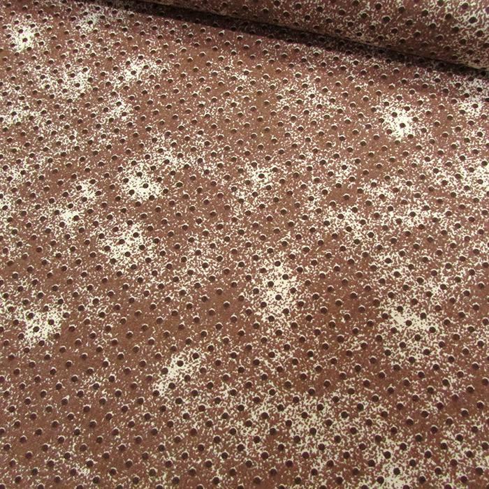 Tecido Tricoline Poá Manchado - Marrom - 100% Algodão - Largura 1,50m