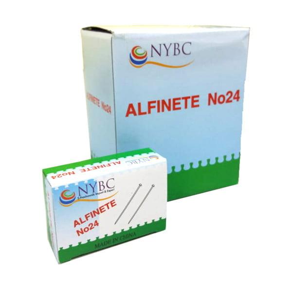 Alfinetes com Cabeça Metalizada nº 24 - Caixa c/ 10 Unidades
