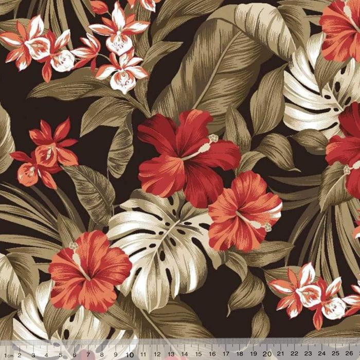 Tecido Impermeável Acquablock® Karsten - Maui Preto - 72% Algodão 28% Poliéster - Largura 1,40m