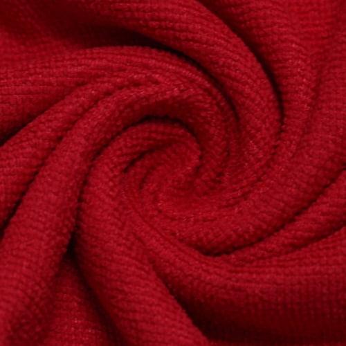 Tecido Atoalhado Felpudo Tropical Liso - Vermelho - 100% Poliéster - Largura 1,45m