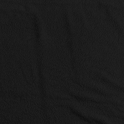 Tecido Atoalhado Liso - Preto - 100% Algodão - Largura 1,40m