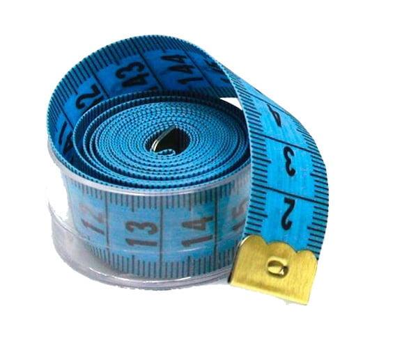 Fita Métrica com Caixa Acrílica - Azul - 1 Un