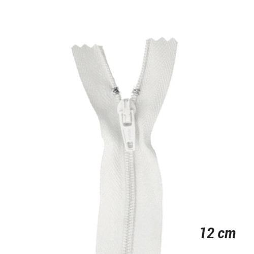 Zíper Sintético Fino Coats - Branco - 12 cm