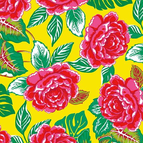 Tecido Chita Floral Provença - Amarelo - 100% Algodão - Largura 1,40m