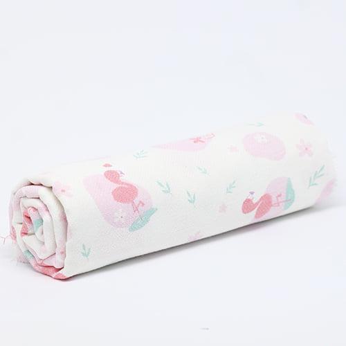 Tecido Flanela Baby - Flamingos - 100% Algodão - Largura: 80cm