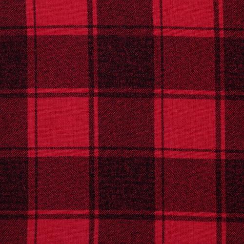 Tecido Flanela Xadrez Madras - Bloco Vermelho - 100% Algodão - Largura 1,50m