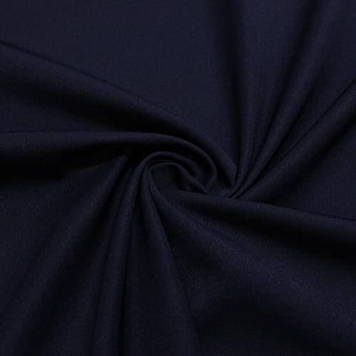 Tecido Gabardine Lisa - Azul Marinho - 100% Poliéster - Largura: 1,50m