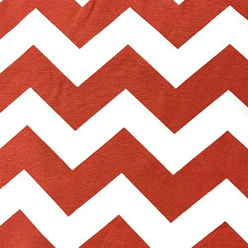 Tecido Gorgurinho Decor Light Basic - Chevron Vermelho e Branco - 100% Poliéster - Largura 1,40m