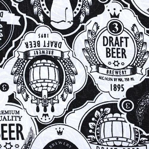 Tecido Jacquard Decor - Draft Beer - 58% Algodão 42% Poliéster - Largura 1,40m