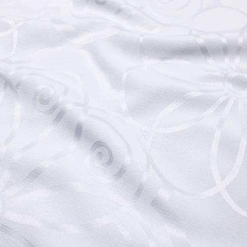 Tecido Jacquard Decor Largo Brocado Dupla Face - Aurora - Branco - 55% Algodão 45% Poliéster - Largura 2,80m