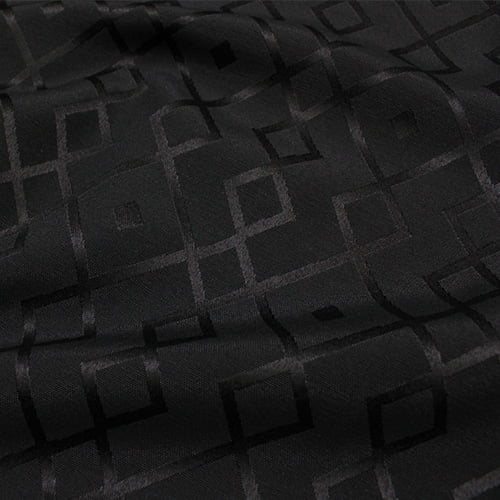 Tecido Jacquard Decor Largo Brocado Dupla Face - Geometria Stripe - Preto - 55% Algodão 45% Poliéster - Largura 2,80m