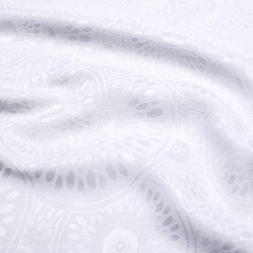 Tecido Jacquard Decor Largo Brocado Dupla Face - Mandala Circle - Branco - 55% Algodão 45% Poliéster - Largura 2,80m