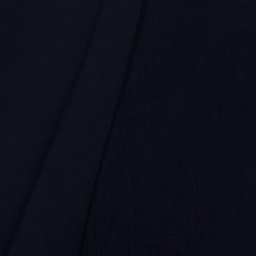 Tecido Linho Puro Liso - Azul Marinho - 100% Linho - Largura 1,40m