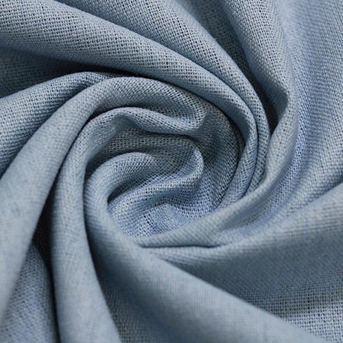 Tecido Linho Com Viscose Liso - Azul Céu - 55% Linho 45% Viscose - Largura 1,35m
