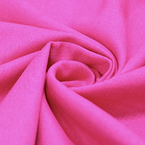 Tecido Linho Com Viscose Liso - Pink Classic - 55% Linho 45% Viscose - Largura 1,35m