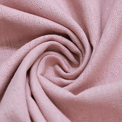 Tecido Linho Com Viscose Liso - Rosa Nude - 55% Linho 45% Viscose - Largura 1,35m