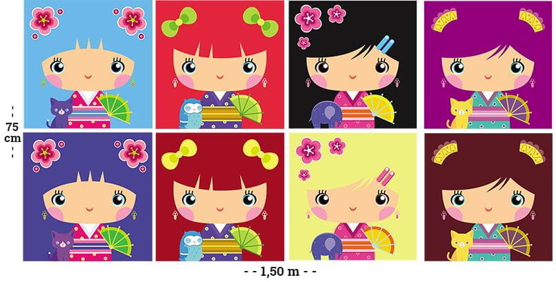 Tecido Tricoline Digital Molde Almofadas - Menininhas - 100% Algodão - 75cm x 1,50m