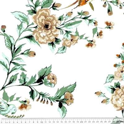 Tecido Percal 230 Fios Estampado - Coleção Floral Ref 11 - 100% Algodão - Largura 2,50m