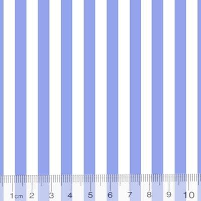 Tecido Percal 130 Fios Listrado - Azul - 100% Algodão - Largura 2,45m