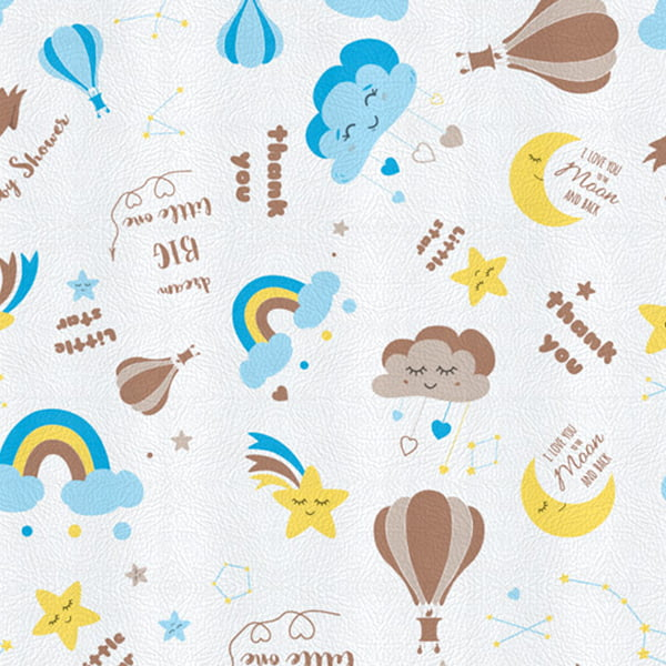 Tecido PVC Estampado Decorelli Arte - Boy's Dream - Largura 1,40m