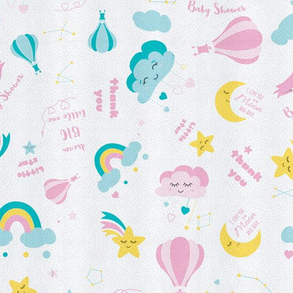 Tecido PVC Estampado Decorelli Arte - Girl's Dream - Largura 1,40m