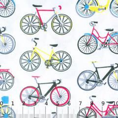 Tecido Tricoline Mista Bicicletas Coloridas 01 - 90% Algodão 10% Poliéster - Largura 1,50m