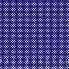 Tecido Tricoline Mista Poá P - Azul Royal c/ Branco - 90% Algodão 10% Poliéster - Largura 1,50m