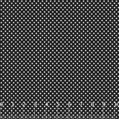 Tricoline Mista Poá P - Preto c/ Branco - 90% Algodão 10% Poliéster - Largura 1,50m