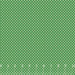 Tecido Tricoline Mista Poá P - Verde c/ Branco - 90% Algodão 10% Poliéster - Largura 1,50m