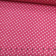 Tecido Tricoline Mista Pop Textoleen Poá M Fundo Rosa Pink - 50% Algodão 50% Poliéster - Largura 1,38m