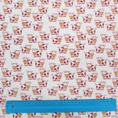 Tecido Tricoline Vaquinha - Bege - 100% Algodão - Largura 1,50m