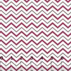 Tecido Tricoline Chevron Colorido - Vinho e Marrom - 100% Algodão - Largura 1,50m