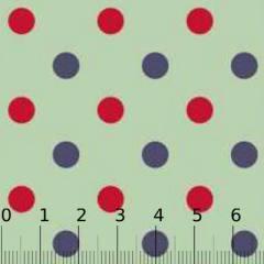 Tecido Tricoline Poá Pan G Dual Color - Verde - 100% Algodão - Largura 1,50m