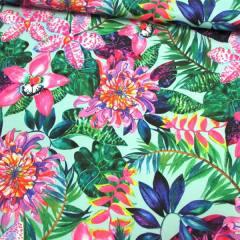 Tecido Gorgurinho Digital - Color Garden - 100% Poliéster - Largura 1,45m