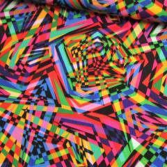 Tecido Gorgurinho Digital - Festa Vintage Colorido - 100% Poliéster - Largura 1,45m