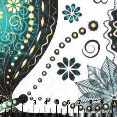 Tecido Gorgurinho Digital - Borboletas Decor Verde - 100% Poliéster - Largura 1,45m