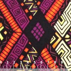 Tecido Gorgurinho Digital - Tribal Roxo - 100% Poliéster - Largura 1,45m
