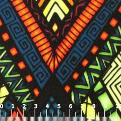 Tecido Gorgurinho Digital - Tribal Verde - 100% Poliéster - Largura 1,45m