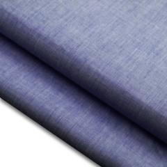 Tecido Fil a Fil Mesclado - Azul Escuro Jeans - 100% Algodão - Largura: 1,50m