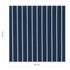 Tecido Impermeável Acquablock® Karsten - Cordonê Marinho - 72% Algodão 28% Poliéster - Largura 1,40m