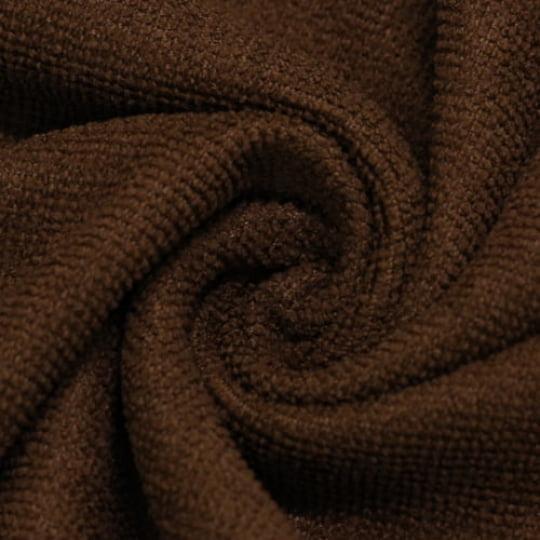 Tecido Atoalhado Felpudo Tropical Liso - Marrom Escuro - 100% Poliéster - Largura 1,45m