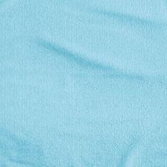 Tecido Atoalhado Liso - Azul Claro - 100% Algodão - Largura 1,40m