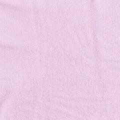 Tecido Atoalhado Liso - Rosa Claro - 100% Algodão - Largura 1,40m
