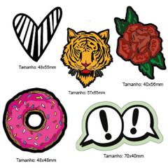 Kit Patches Termocolante - Kit 12 Tigre - 5 unidades