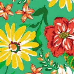 Tecido Chita Floral Delfos - Verde - 100% Algodão - Largura 1,40m