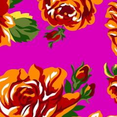 Tecido Chita Floral Gordes - Rosa Pink - 100% Algodão - Largura 1,40m