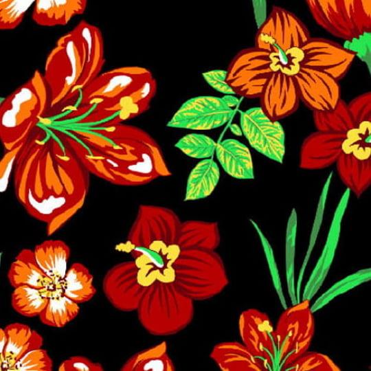 Tecido Chita Floral Mitilene - Preto - 100% Algodão - Largura 1,40m