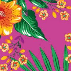 Tecido Chita Floral Moûtiers - Rosa Pink - 100% Algodão - Largura 1,40m