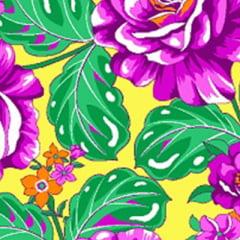 Tecido Chita Floral Tours - Amarelo - 100% Algodão - Largura 1,40m